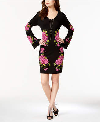 INC International Concepts I.n.c. Petite Placed-Print Sweater Dress, Created for Macy's