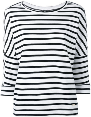 Woolrich three-quarters sleeve striped jumper $123.15 thestylecure.com