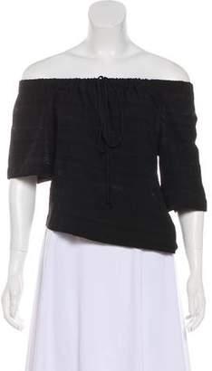 A.L.C. Off-The-Shoulder Short Sleeve Top