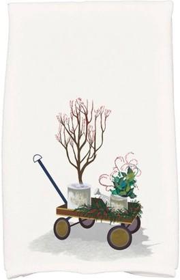 Holiday Essence Farmhouse Holiday Geometric Print Hand Towel