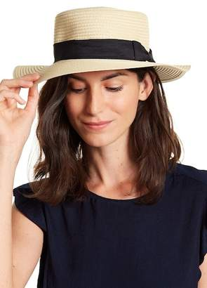 David & Young Woven Boater Hat