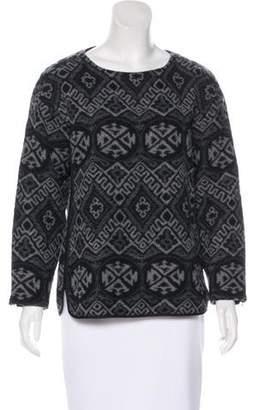 Rebecca Taylor Wool-Blend Long Sleeve Sweater