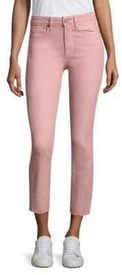 Paige Transcend Jacqueline Straight Raw-Hem Jeans