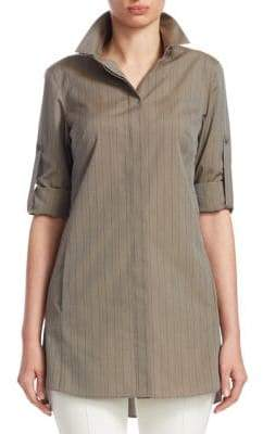 Akris Punto Striped Poplin Blouse