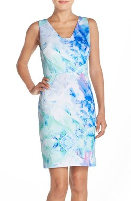 Women's Julia Jordan Print Scuba Sheath Dress $138 thestylecure.com