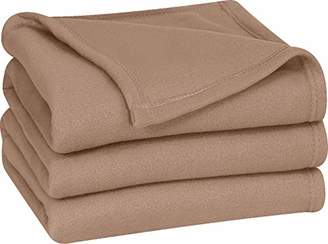 Utopia Bedding King Polar-Fleece Thermal Blanket Tan - Extra Soft Brush Fabric