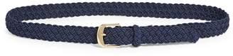 Lauren Ralph Lauren Woven Goldtone Buckle Belt