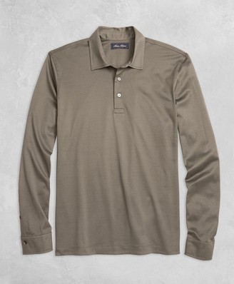 Brooks Brothers Golden Fleece Pique Knit Long-Sleeve Polo Shirt