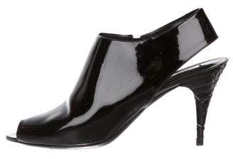Burberry Patent Leather Peep-Toe Pumps