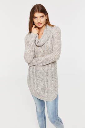Ardene Cable Knit Cowl Neck Sweater