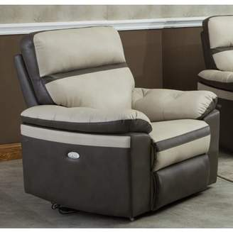 Gordon Motion Two Tone Leather Air Electric Power Recliner Chair