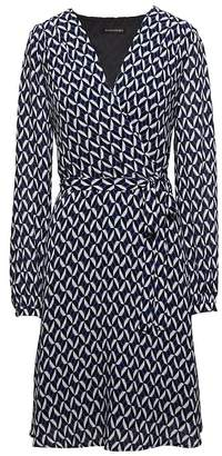 Banana Republic Print Wrap-Effect Fit-and-Flare Dress