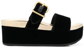 Prada open toe flatform sandals