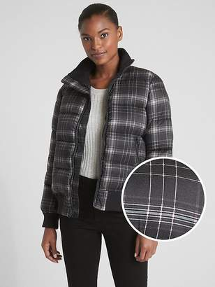 Gap Plaid Puffer Bomber Jacket
