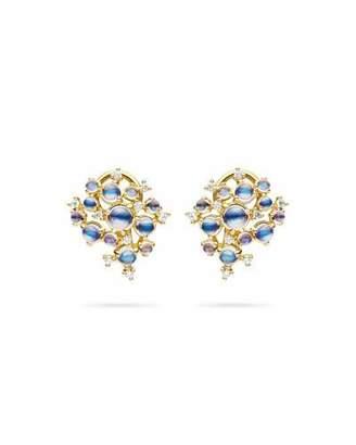 Paul Morelli Bubble Moonstone & Diamond Clip-On Earrings