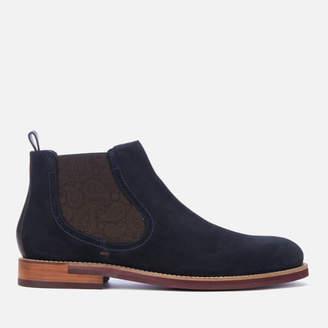 Ted Baker Men's Secaint Suede Chelsea Boots - Dark Blue