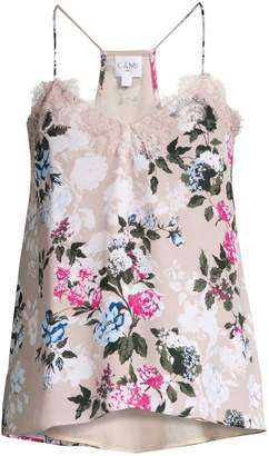 CAMI NYC The Racer Floral Silk Georgette Camisole