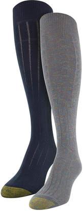 Gold Toe Women's 2pk Sparkle Cable Knee-High Socks