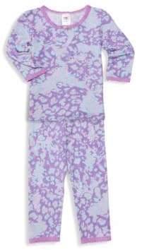 LIttle Girl's & Girl's Cheetah Two-Piece Pajama Set