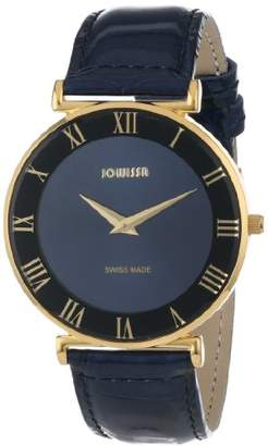 Jowissa Women's J2.041.L Roma 36 mm Gold PVD Dial Roman Numeral Leather Watch