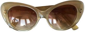 Cutler & Gross Beige Plastic Sunglasses
