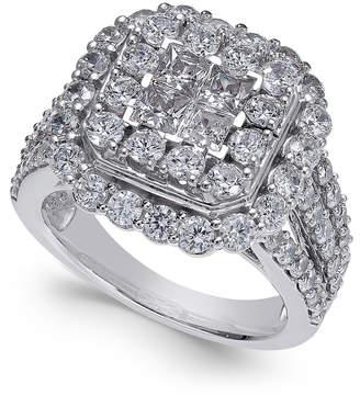 Macy's Diamond Cluster Ring (3 ct. t.w.) in 14k White Gold