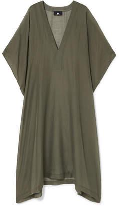 SU Paris - Yuma Cotton And Silk-blend Voile Kaftan - Army green