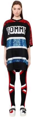 Tommy Hilfiger Tommy Tiger Sequined Oversized Knit Dress