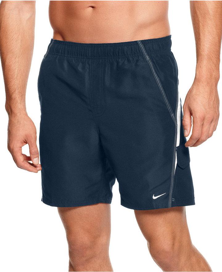 """Nike Swimwear, Core Velocity 7"""" Volley Swim Trunks"""