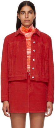 Acne Studios Red Bla Konst Cliff Corduroy Jacket