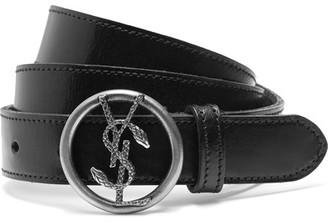Saint Laurent - Leather Belt - Black $325 thestylecure.com