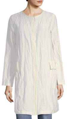 Eileen Fisher Crumpled A-Line Jacket