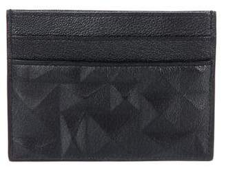 Christian Dior Embossed Leather Card Holder