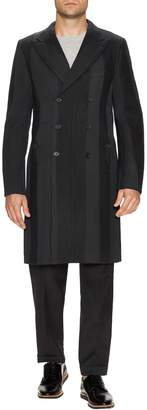 Dolce & Gabbana Men's Wool Striped Top Coat