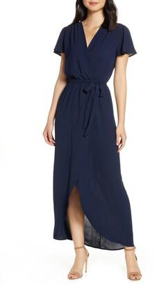 Fraiche by J High/Low Wrap Maxi Dress