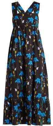 Mila Louise Borgo De Nor Floral Print Cotton Dress - Womens - Black Print