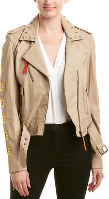 Nicole Miller Artelier Leather Jacket