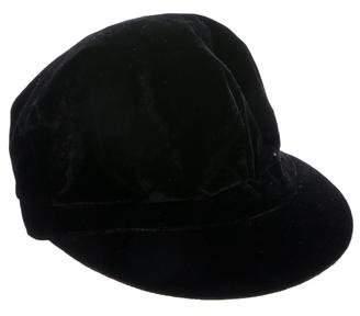 Burberry Velvet Drivers Hat