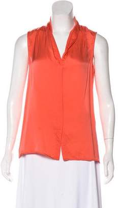 Theory Surplice Neck Sleeveless Top