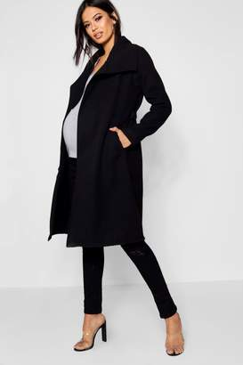 boohoo Maternity Waterfall Oversized Coat