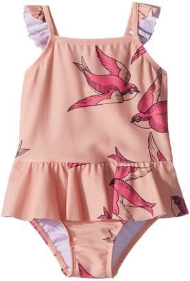 Mini Rodini Swallows Skirt Swimsuit Girl's Swimsuits One Piece