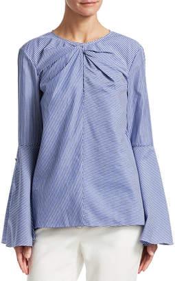 Prabal Gurung Twist Bell-Sleeve Blouse