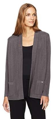 Anne Klein Women's 2 Pocket Malibu Cardigan