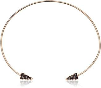 Rebecca Minkoff Stacked Baguette Hinged Collar Necklace
