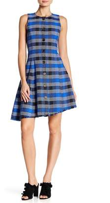 Derek Lam 10 Crosby Plaid Asymmetrical Button Down Dress