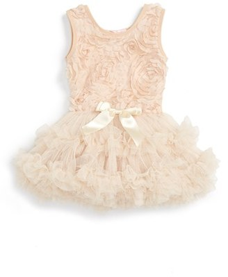Infant Girl's Popatu Ribbon Rosette Tutu Dress $38 thestylecure.com