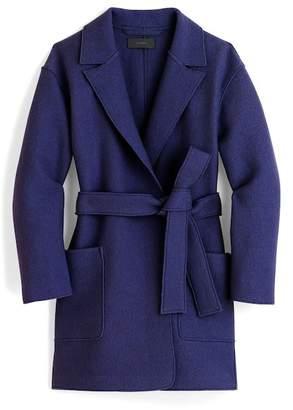 J.Crew J. Crew Sabrina Boiled Wool Wrap Coat (Regular & Petite)