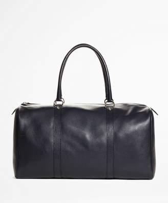 Brooks Brothers Pebble Leather Duffle Bag