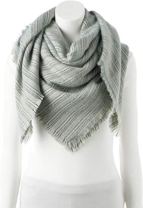 Lauren Conrad Women's Striped Square Blanket Scarf