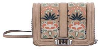 Rebecca Minkoff Small Love Embroidered Suede Crossbody Bag